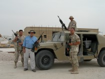 Marko with a roving patrol, on Base in the Middle East.